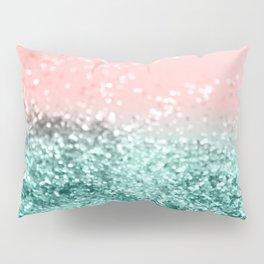 Summer Vibes Glitter #4 #coral #mint #shiny #decor #art #society6 Pillow Sham