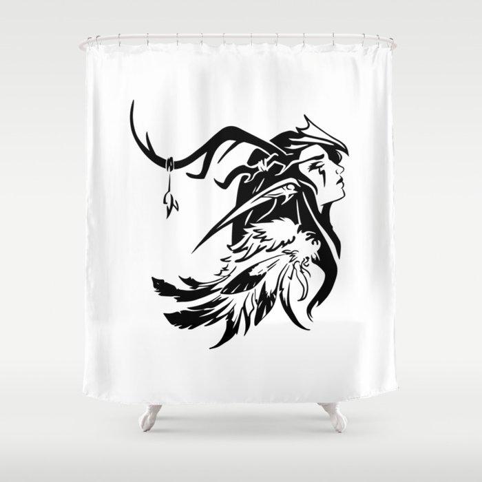 Drow Forest Elf Druid Female Shower Curtain