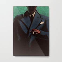 Man In The Dark Metal Print