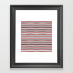 Zigged Chevron Framed Art Print
