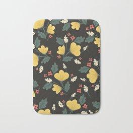 Marguerite Floral Print Bath Mat