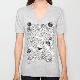 floral doodles Unisex V-Neck