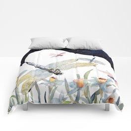 Good Night Surreal Dragonfly Artwork Comforters