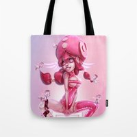 doll Tote Bags featuring Doll by Davide Tosello
