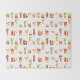 Happy Hour Drinks Throw Blanket