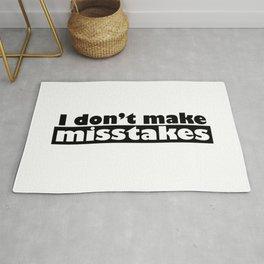 Irony I Don't Make Misstakes Rug