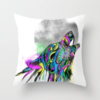 howl Throw Pillows featuring Howl by Kyle Naylor