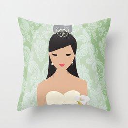 Calla Lily Bride Throw Pillow