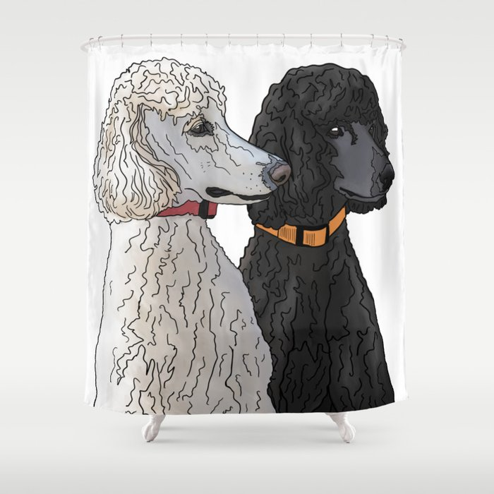 Pair Of Poodles Shower Curtain By Quickbrownfoxcda