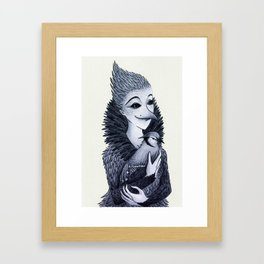 Blue Jayne Framed Art Print