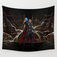 thor Wall Tapestries featuring THOR - Son Of Odin by alifart