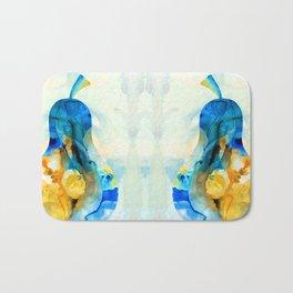 A Nice Pear - Abstract Art By Sharon Cummings Bath Mat