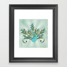 Just a Peacock Framed Art Print