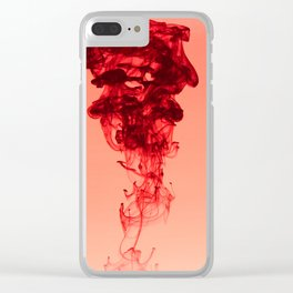 Pink ink Clear iPhone Case