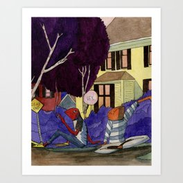 Dead End Frog Kids Art Print