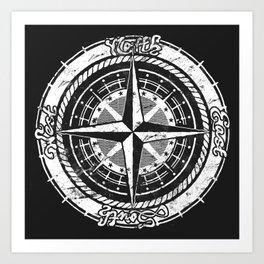 Compass Rose Art Print