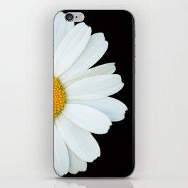 Hello Daisy - White Flower Black Background #decor #society6 #buyart iPhone Skin