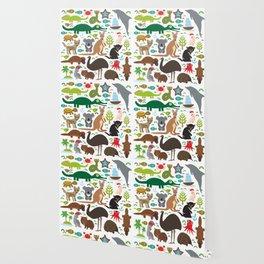 Animals Australia: Echidna Platypus ostrich Emu Tasmanian devil Cockatoo parrot Wombat snake turtle Wallpaper