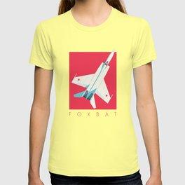 MiG-25 Foxbat Interceptor Jet Aircraft - Crimson T-shirt