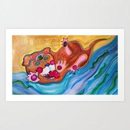 All-Seeing Eye Dog, The Beach of the Future Art Print