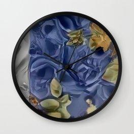 Blue Hole Paper Pattern Wall Clock