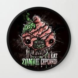 I Eat Zombie Cupcakes! Wall Clock