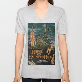 Vintage poster - House on Haunted Hill Unisex V-Neck