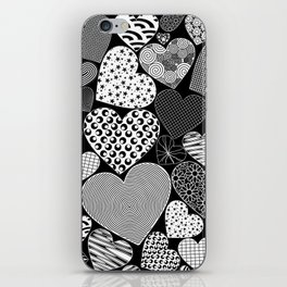 Love Hearts Doodle Art Pattern iPhone Skin