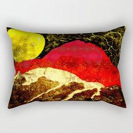 Storm on Red Mountain Rectangular Pillow