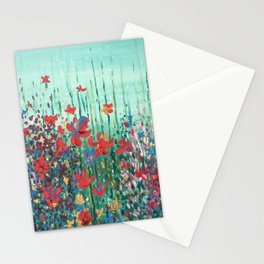 """Blommor"""" Flowers in Bloom Original Print from Oil Painting/ Patented Design Stationery Cards"""