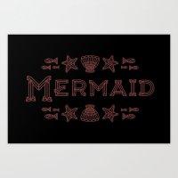 Glass Mermaid Art Print