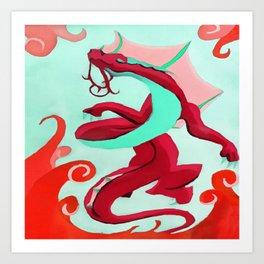 Crimson Dragon Art Print