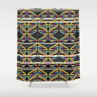 dna Shower Curtains featuring Pattern DNA by Amanda Dilworth