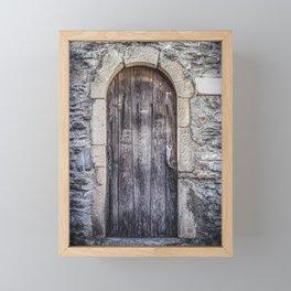 Old French Door Framed Mini Art Print