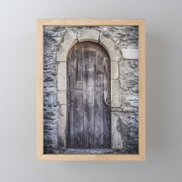 Old French Door Framed Mini Art Print