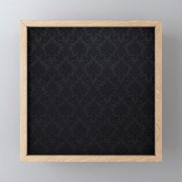 Black damask - Elegant and luxury design Framed Mini Art Print