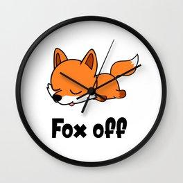 Fox off Wall Clock