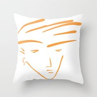 the dude Throw Pillows featuring Dude by thisisddm