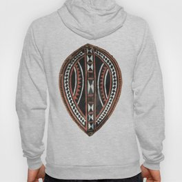 African Ethnic Tribal Painted Decorative Shield Hoody