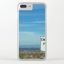 Emergency Parking Clear iPhone Case