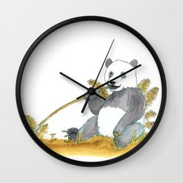 Giant Panda Wall Clock