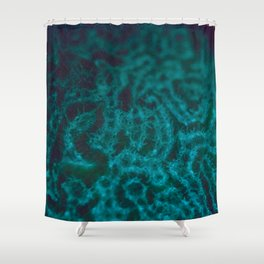Turquoise fluorescence Shower Curtain