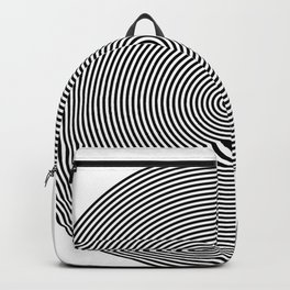 Hypnotic Circles optical illusion Backpack