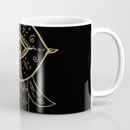 Hamsa Hand Gold on Black #1 #drawing #decor #art #society6 Coffee Mug