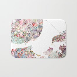 Lisbon map Bath Mat