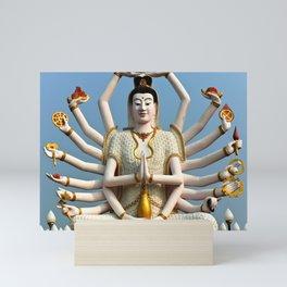 White Buddha Mini Art Print