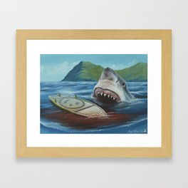 The Shallows - Feeding Time | Painting Framed Art Print