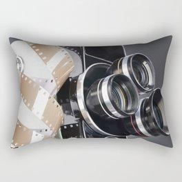 Retro mechanical movie camera and reel film Rectangular Pillow