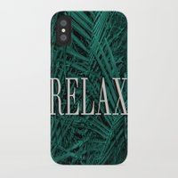 relax iPhone & iPod Cases featuring RELAX by sincerelykarissa