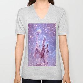 Subtle Space : Pillars of Creation Nebula Unisex V-Neck